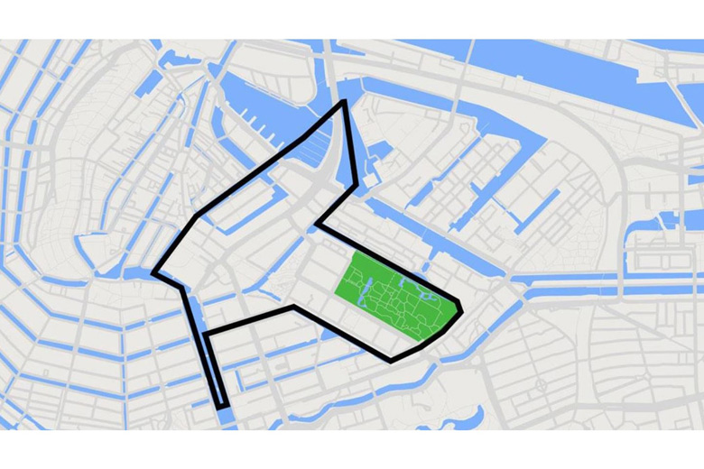 Amsterdam light festival map