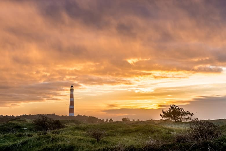 Ameland island in Holland